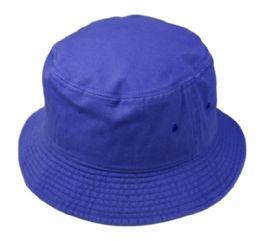 12 Units of Plain Cotton Bucket Hats In Royal - Bucket Hats