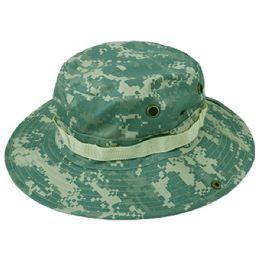 12 Units of Outdoor Cotton Bucket Hats With Strip In Digital - Bucket Hats