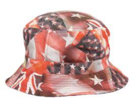 12 Units of Multi Flag Reversible Bucket Hats - Bucket Hats