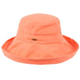 12 Units of Cotton Canvas Sun Cloche Hats In Light Coral - Bucket Hats