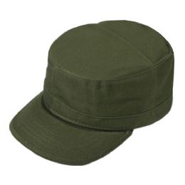 24 Units of FITTED ARMY MILITARY CADET IN OLIVE - Military Caps