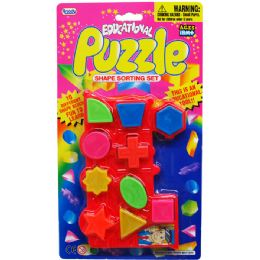 72 Units of 10 Piece Educational Puzzle Play Set - Educational Toys
