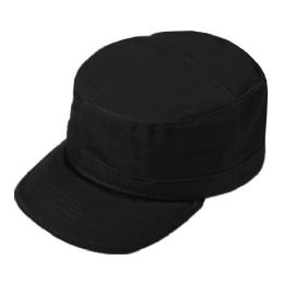 24 Units of FITTED ARMY MILITARY CADET IN BLACK - Military Caps