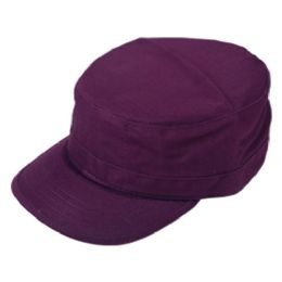 24 Units of FITTED ARMY MILITARY CADET IN PURPLE - Military Caps