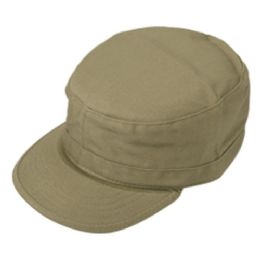24 Units of FITTED ARMY MILITARY CADET IN KHAKI - Military Caps