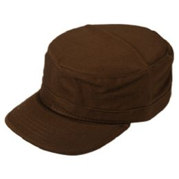 24 Units of FITTED ARMY MILITARY CADET IN BROWN - Military Caps