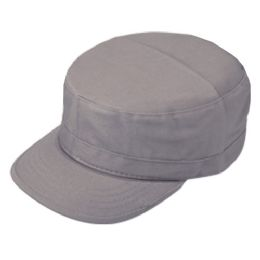 24 Units of FITTED ARMY MILITARY CADET IN GREY - Military Caps