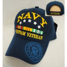12 Units of Licensed Navy [Vietnam Veteran] *Blue Only - Military Caps