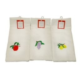 120 Units of KITCHEN TOWELS W FRUIT EMBRODIERY - Kitchen Towels