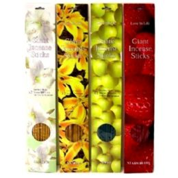 360 Units of 12PC GIANT INCENSES 45CM - Air Fresheners