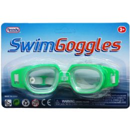 "144 Units of 6"" Swimming Goggles In Blister Card - Summer Toys"