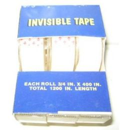 72 Units of Invisible Clear Tape - Tape