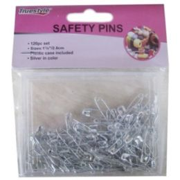 48 Units of 120PC SAFETY PINS IN CASE - SAFETY PINS