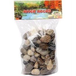 24 Units of River Rock Med Size 500g - Rocks, Stones & Sand