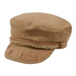 12 Units of Cotton Greek Fisherman Hats In Khaki - Baseball Caps & Snap Backs