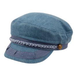 12 Units of Cotton Greek Fisherman Hats In Blue Jeans - Baseball Caps & Snap Backs