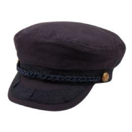 12 Units of Cotton Greek Fisherman Hats In Navy - Baseball Caps & Snap Backs