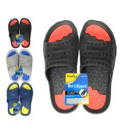 48 Units of Men's 2-Tone Eva Sandals - Men's Slippers