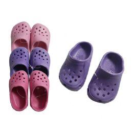 72 Units of Girls Garden Clogs Size: 18 - 23 - Girls Slippers