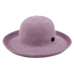 12 Units of Wide Brim Sun Bucket Hats In Lavender - Sun Hats