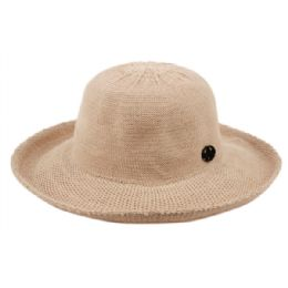12 Units of Wide Brim Sun Bucket Hats In Khaki - Sun Hats