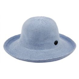12 Units of Wide Brim Sun Bucket Hats In Indigo Blue - Sun Hats