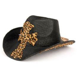 12 Units of FASHION LEOPARD COWBOY HATS - Cowboy & Boonie Hat