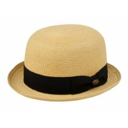 12 Units of Braid Straw Bowler Hats - Sun Hats