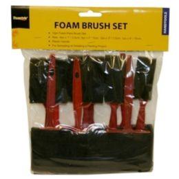 48 Units of 10 Piece Foam Brush Set - Hardware Shop Equipment