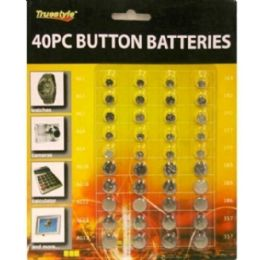 48 Units of 40pc Button Batteries 8x7 in - Batteries