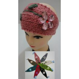 12 Units of Hand Knitted Ear Band [Flower with Lace] - Ear Warmers