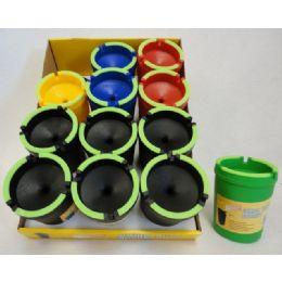 72 Units of Large Butt Bucket with Glow Edges - Ashtrays