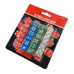 72 Units of 24pc Dice Set - Playing Cards, Dice & Poker