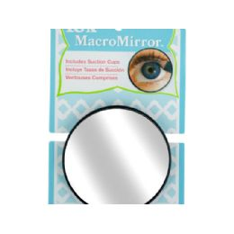 72 Units of 15X MacroMirror with Suction Cups - Cosmetics