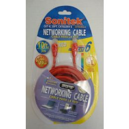 12 Units of 10ft Networking Cable - Cables and Wires