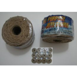 144 Units of Jute Twine-350ft - Rope and Twine