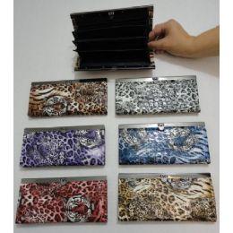 72 Units of Ladies Expandable Wallet [Tiger & Cheetah] - Wallets & Handbags