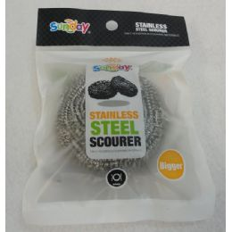 72 Units of 1 Piece 40g Stainless Steel Scourer - Scouring Pads & Sponges