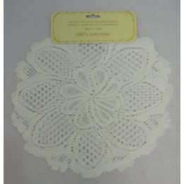 "72 Units of 2pk 13"" Round Lace Doily - Baking Supplies"