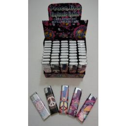 50 Units of Printed Slide Lighter-Peace - Lighters