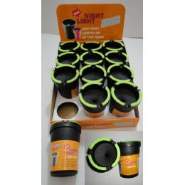 72 Units of Small Butt Bucket with Glow Edges - Ashtrays