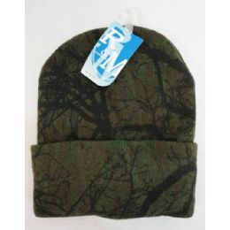 48 Units of Hardwoods Camo Knitted Toboggan - Winter Beanie Hats