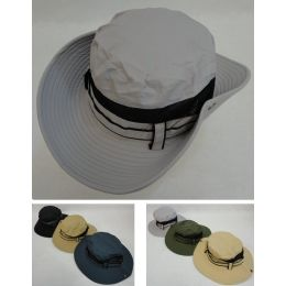 24 Units of Floppy Boonie Hat (Solid Color) Air Mesh Sides - Cowboy & Boonie Hat