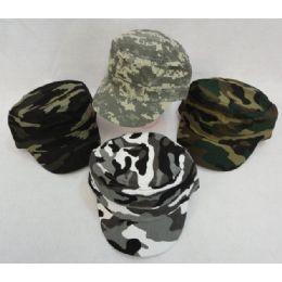 72 Units of Child's Camo Cadet Hat--COTTON**Velcro Back - Cowboy & Boonie Hat