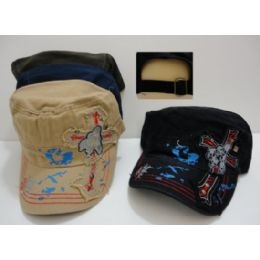 72 Units of Cloth Hat-Cross with Skulls - Cowboy & Boonie Hat