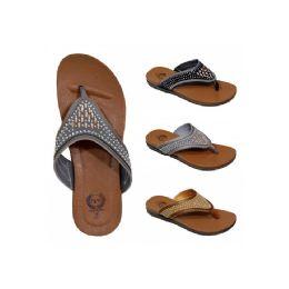 30 Units of Women's Rhinestones Slippers - Women's Flip Flops