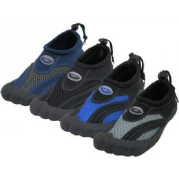 "36 Units of Wholesale Men's Barefoot ""Wave"" Water Shoes - Men's Aqua Socks"