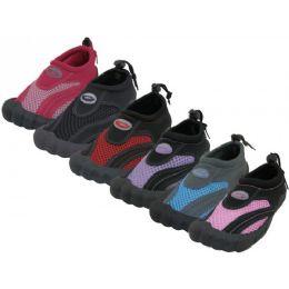 "36 Units of Wholesale Women's Barefoot ""wave"" Water Shoes - Women's Aqua Socks"