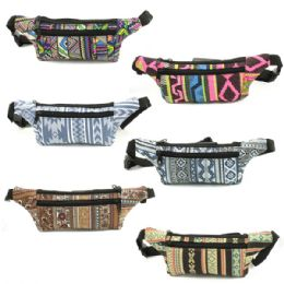 120 Units of Fanny Bag In Assorted Prints And Colors - Fanny Pack