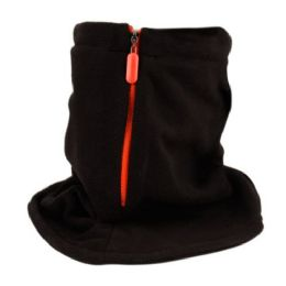 24 Units of Outdoor Soft Fleece Neck Warm Tube With Zipper - Unisex Ski Masks